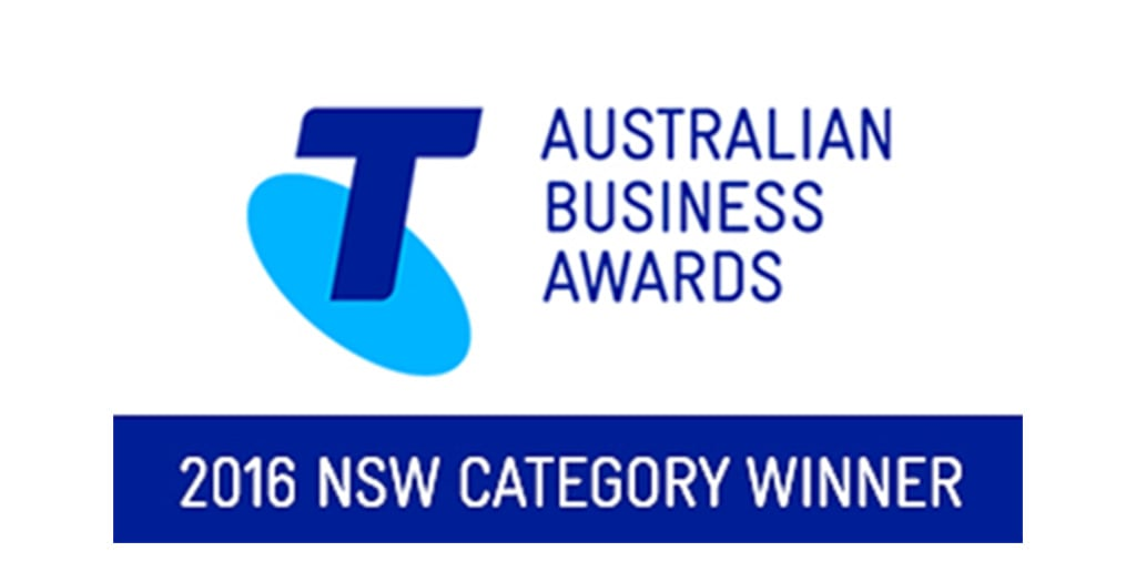 Australian Business Awards 2016 NSW Category Winner