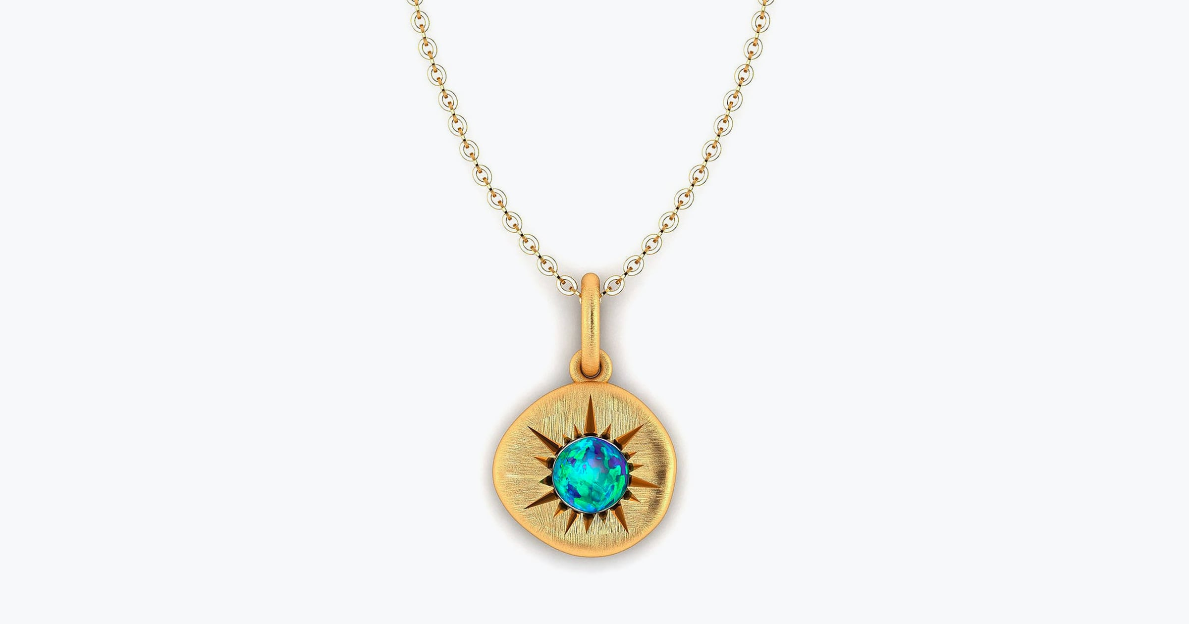 Australian Black Opal Necklace