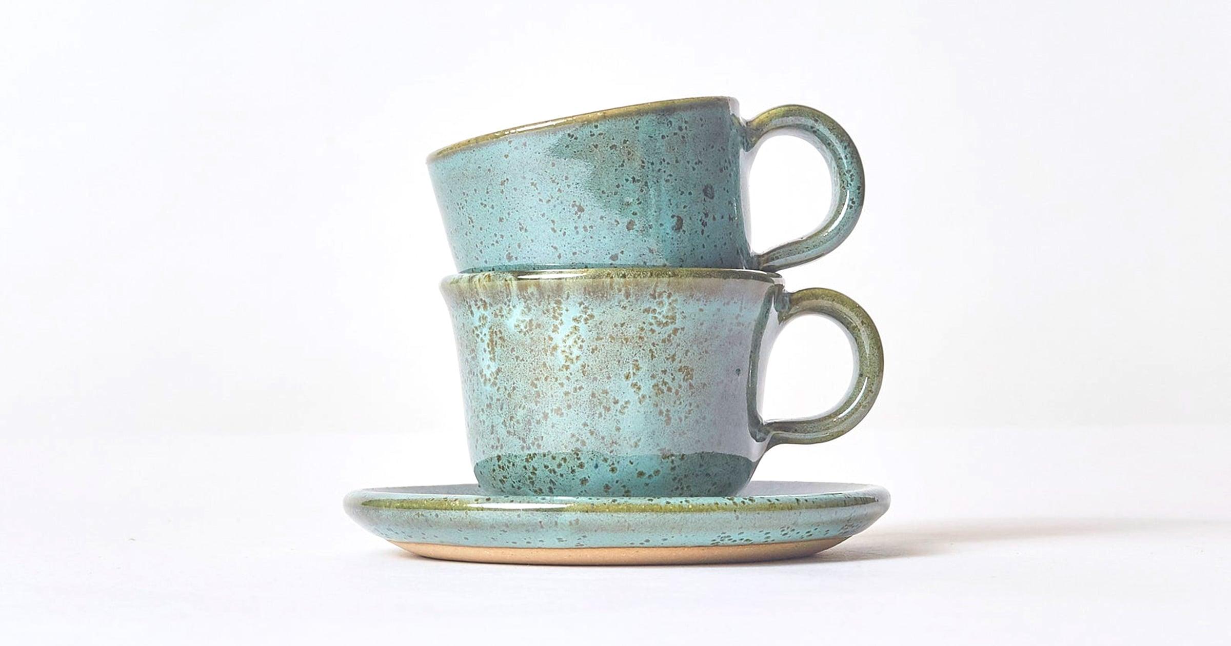 Stoneware Espresso Cups